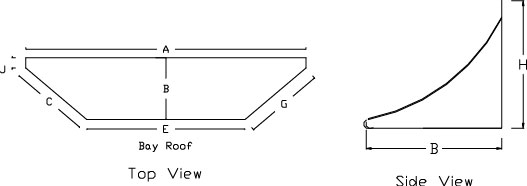 Bay Window Roof Specifications